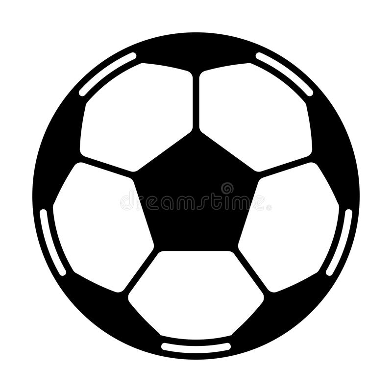 Vecteur de ballon de football illustration libre de droits