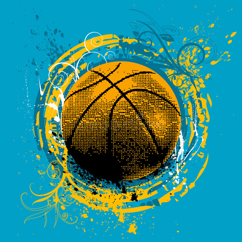 Vecteur de basket-ball illustration libre de droits