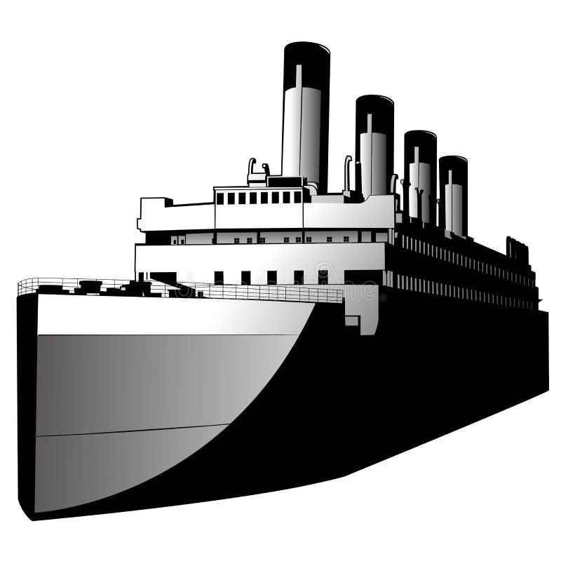 vecteur de bateau d'art illustration stock