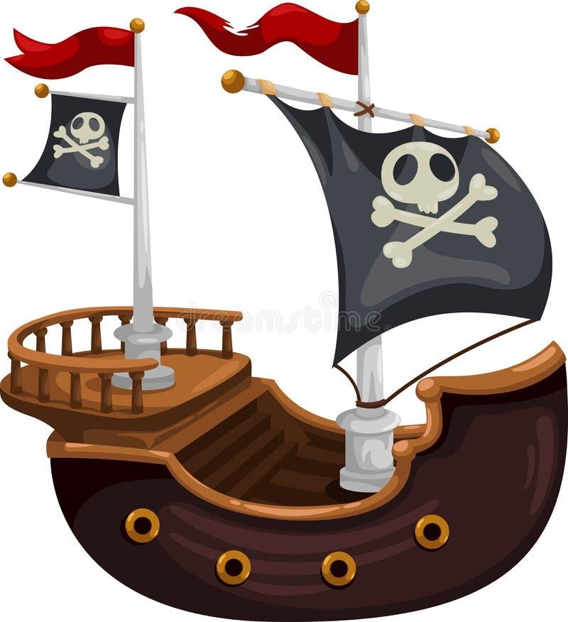 Vecteur de bateau de pirate illustration libre de droits
