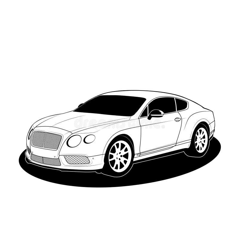 Vecteur de Bentley Continental GT V8 S illustration de vecteur