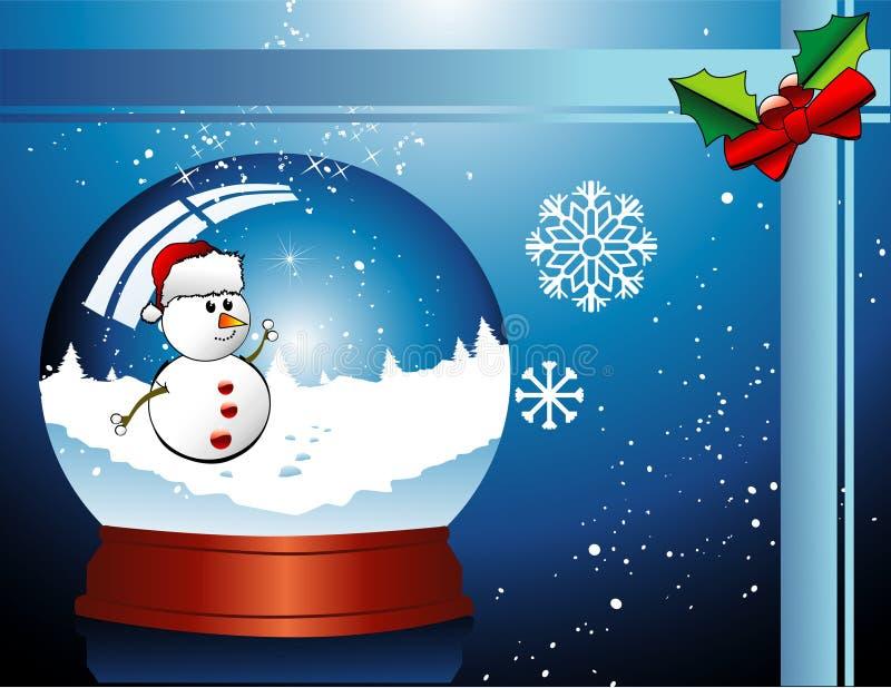 Vecteur de bille en verre de Noël illustration libre de droits