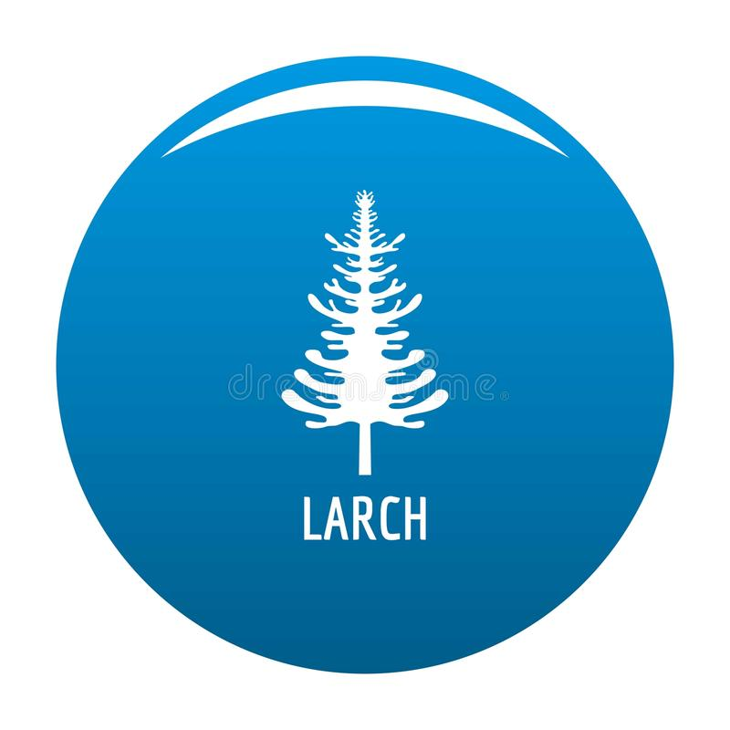 Vecteur de bleu d'icône d'arbre de mélèze illustration libre de droits