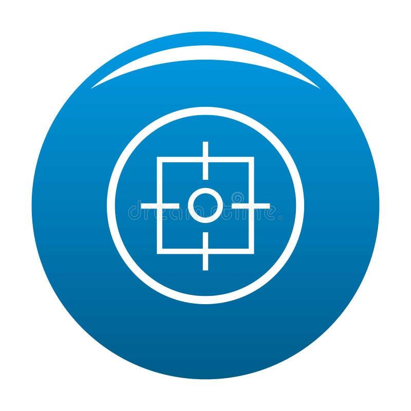 Vecteur de bleu d'icône de cible illustration de vecteur