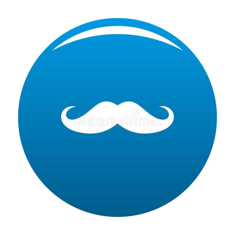 Vecteur de bleu d'icône de moustache de l'Italie illustration libre de droits