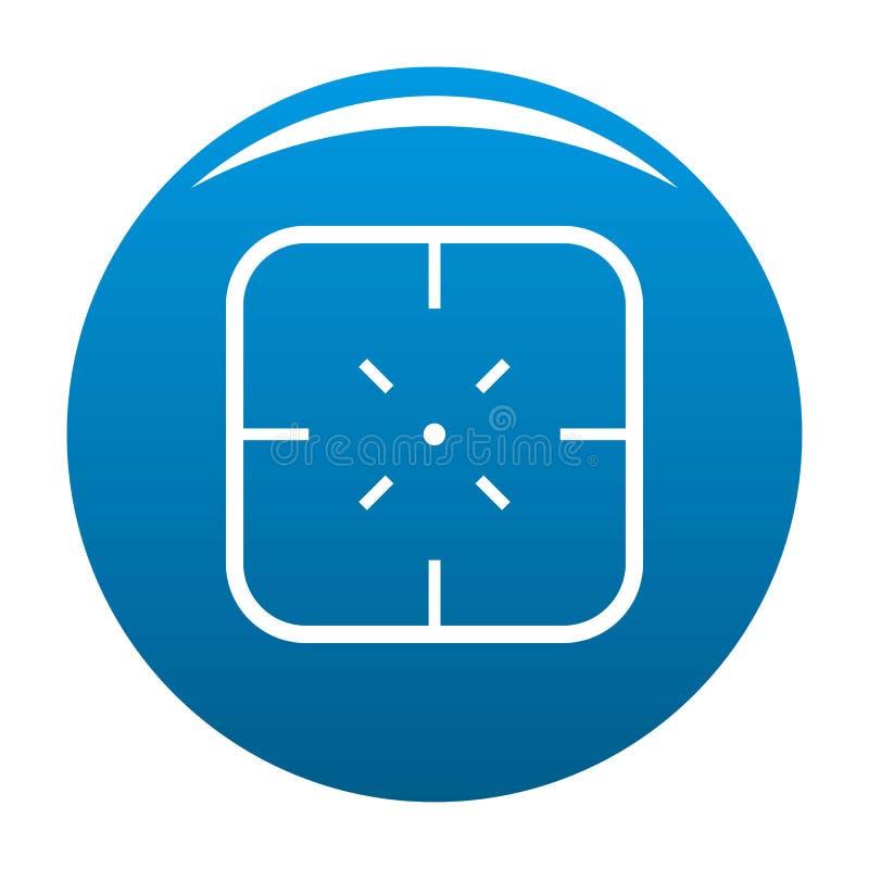 Vecteur de bleu d'icône d'objectif militaire illustration libre de droits