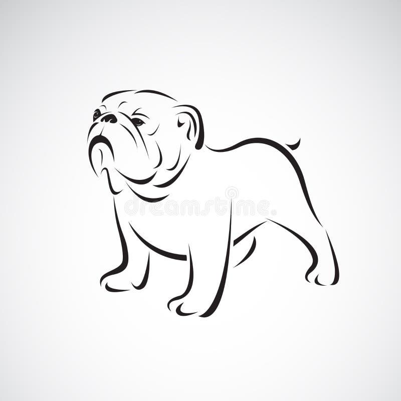 Vecteur de bouledogue sur le fond blanc pet animaux Logo ou icône de chien Illustration posée editable facile de vecteur illustration libre de droits