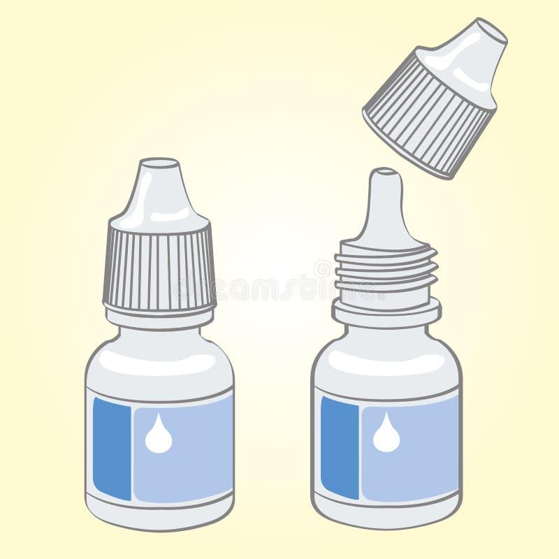 Vecteur de bouteille de gouttes pour les yeux illustration libre de droits