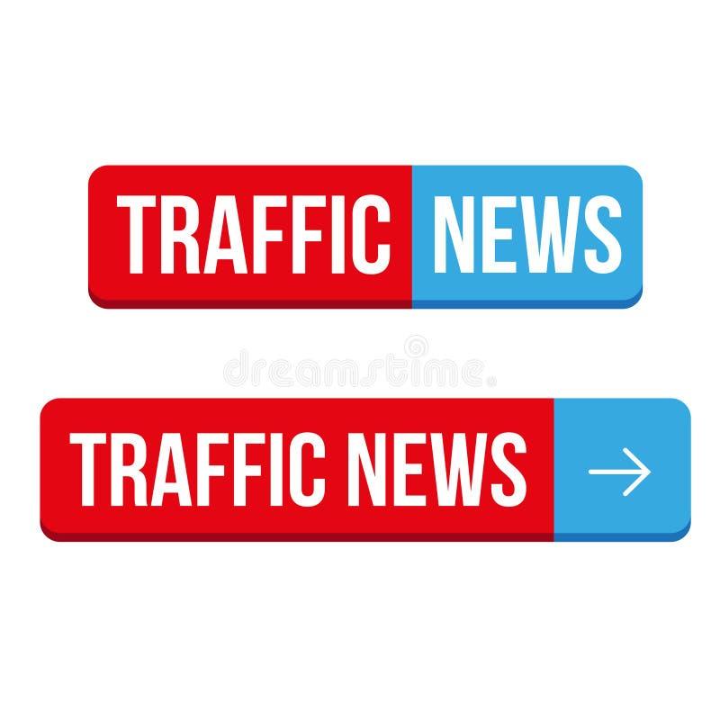 Vecteur de bouton d'actualités du trafic illustration de vecteur