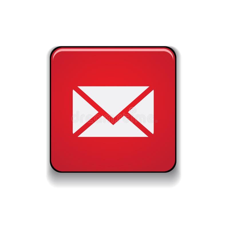 Vecteur de bouton d'icône d'email illustration libre de droits