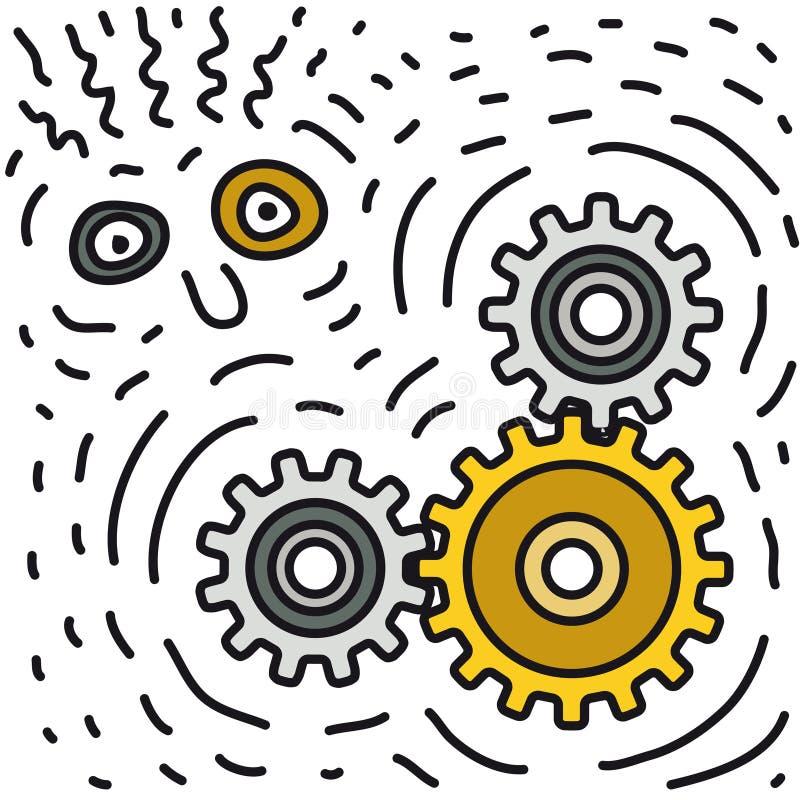 vecteur de bruit de mécanisme illustration de vecteur