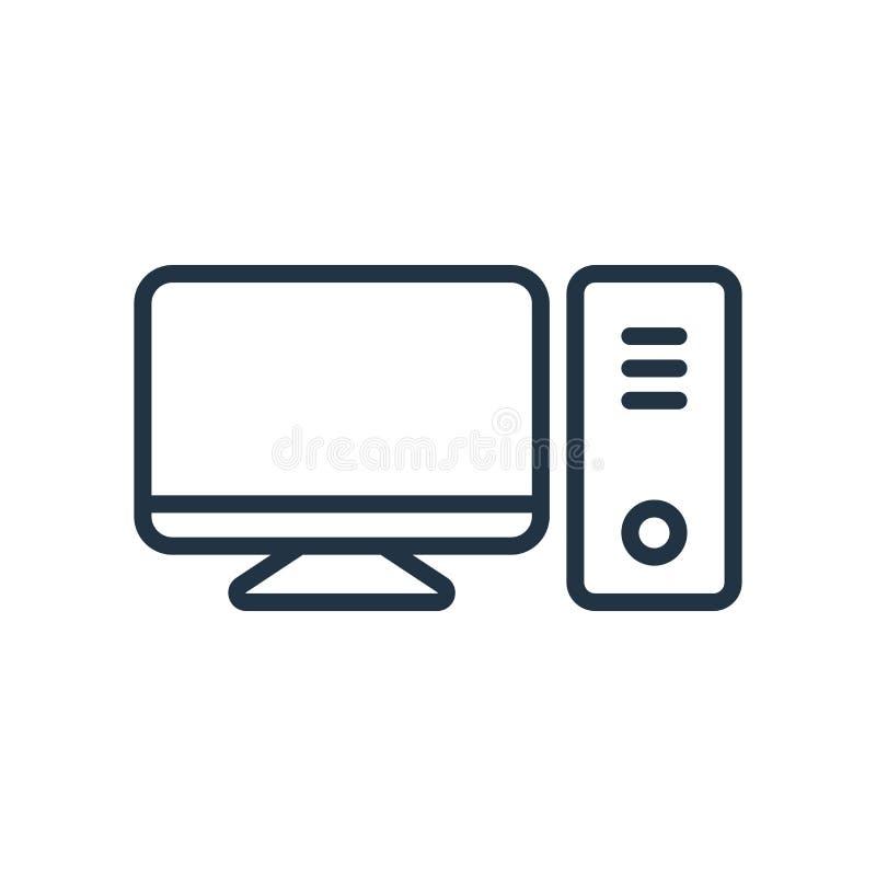 Vecteur de bureau d'icône d'isolement sur le fond blanc, signe de bureau illustration de vecteur