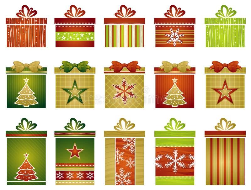vecteur de cadeaux de Noël illustration de vecteur