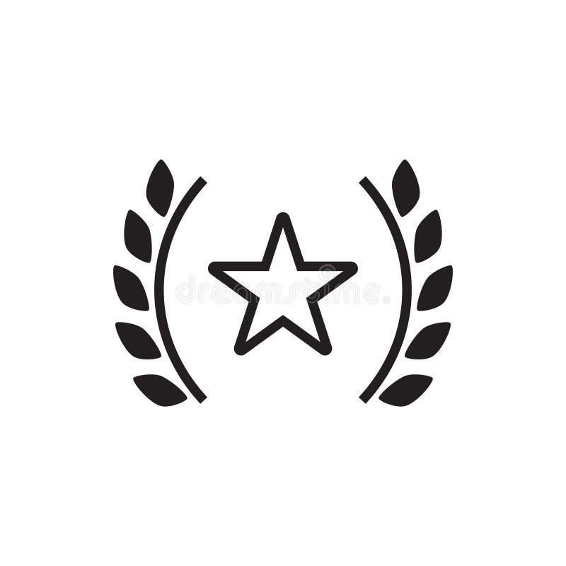 Vecteur de calibre de conception graphique d'icône d'étoile de récompense illustration stock
