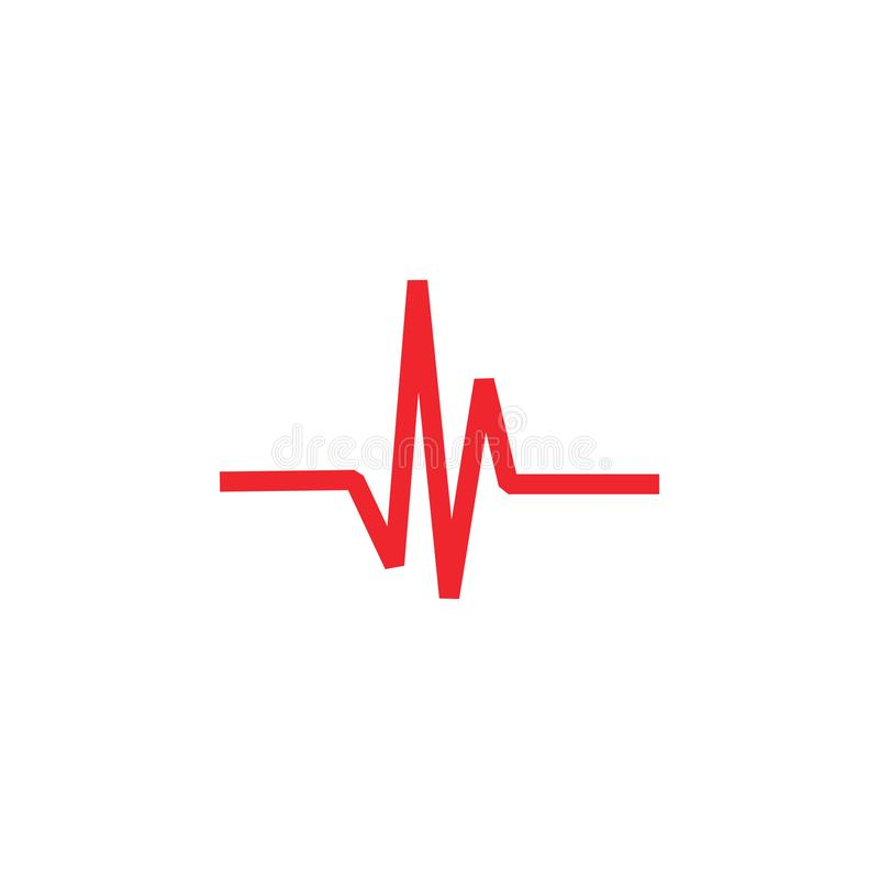 Vecteur de calibre de conception graphique d'icône d'impulsion illustration stock