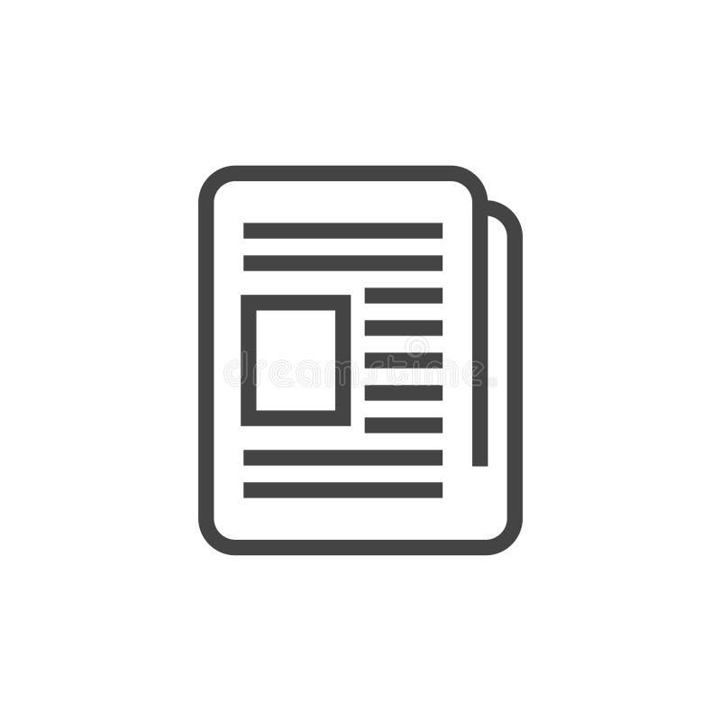 Vecteur de calibre de conception graphique d'icône de journal illustration stock