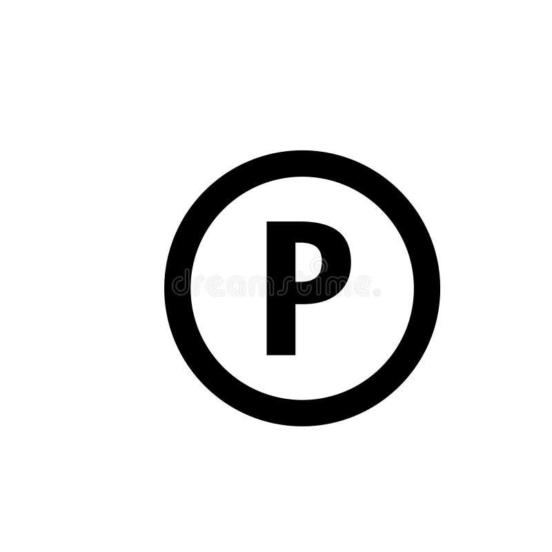 Vecteur de calibre de conception graphique d'icône de parking illustration libre de droits
