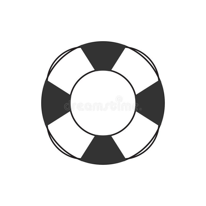 Vecteur de calibre de conception graphique d'icône de soutien de bouée de sauvetage illustration libre de droits