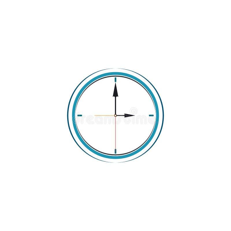 Vecteur de calibre de conception de logo d'horloge murale illustration stock