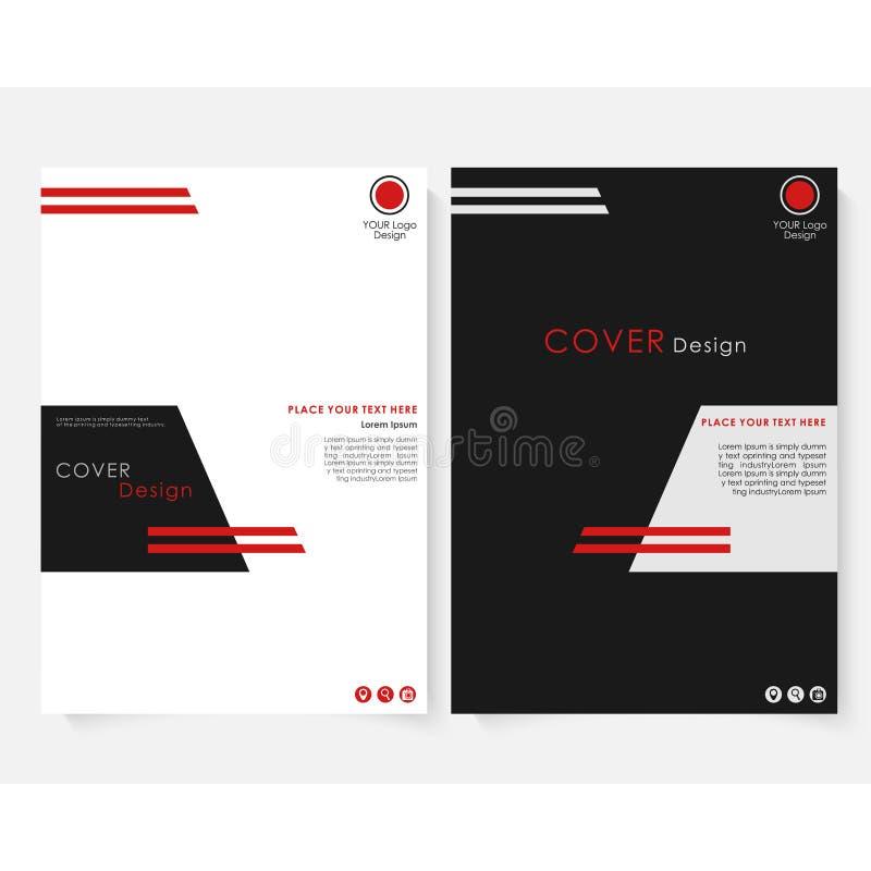 Vecteur de calibre de conception de couverture de rapport annuel de place noire Portfolio de site Web de présentation de concept  illustration libre de droits