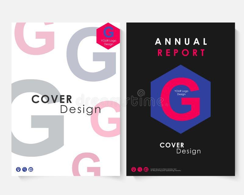 Vecteur de calibre de conception de couverture de rapport annuel  Portfolio de site Web de présentation de concept de brochure Tr illustration libre de droits