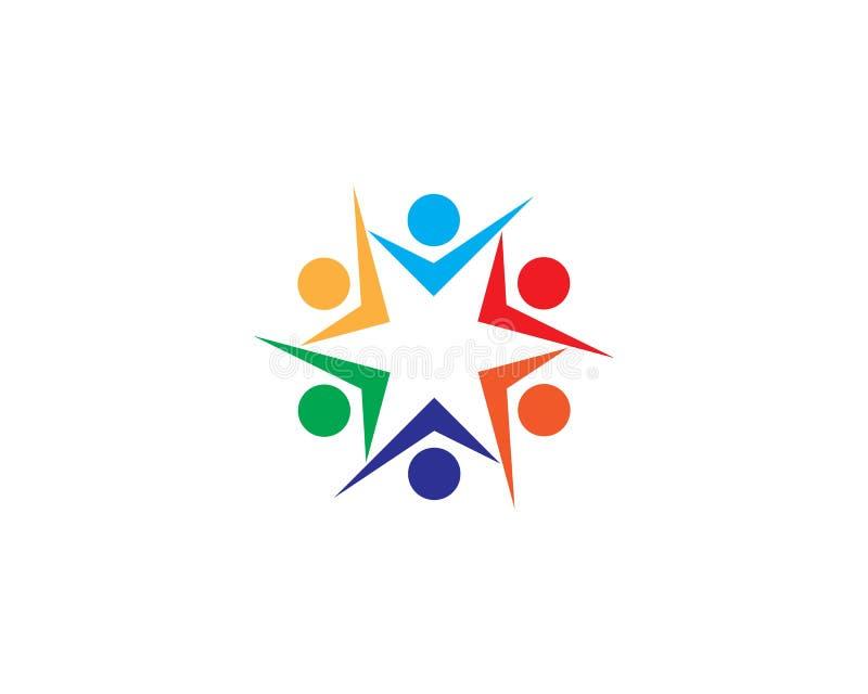 Vecteur de calibre de logo d'adoption et de soins de sant? communautaires illustration de vecteur
