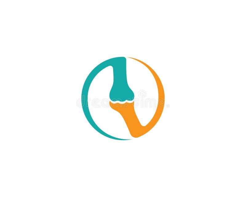 Vecteur de calibre de vecteur de logo d'os illustration stock