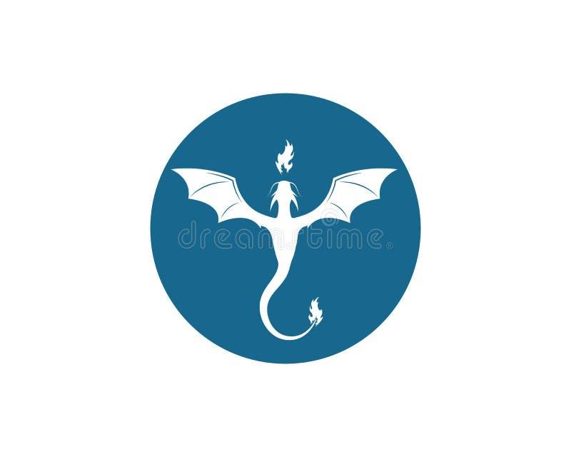 Vecteur de calibre de logo de dragon illustration libre de droits