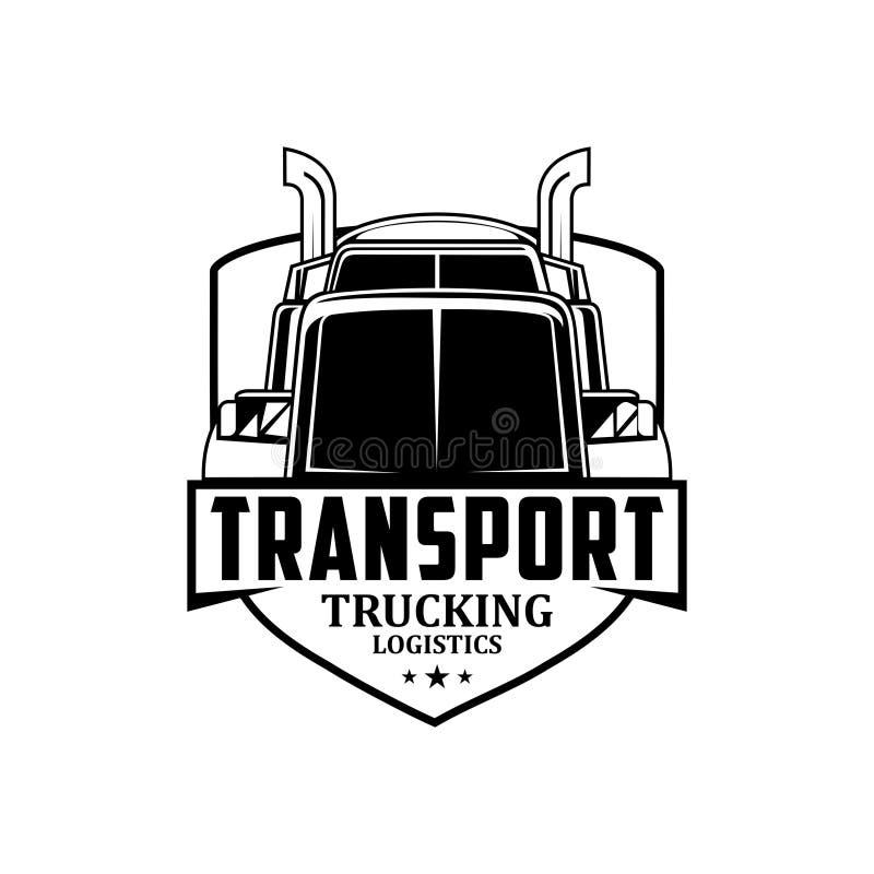 Vecteur de camionnage de logo de logistique de transport photo stock