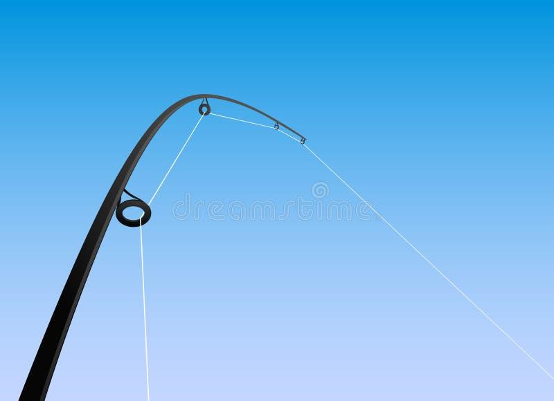 vecteur de canne à pêche illustration libre de droits