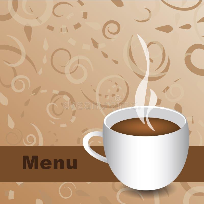 Vecteur de carte de café illustration de vecteur