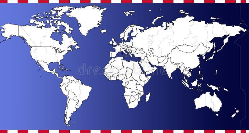 Vecteur de carte de temps du monde illustration de vecteur