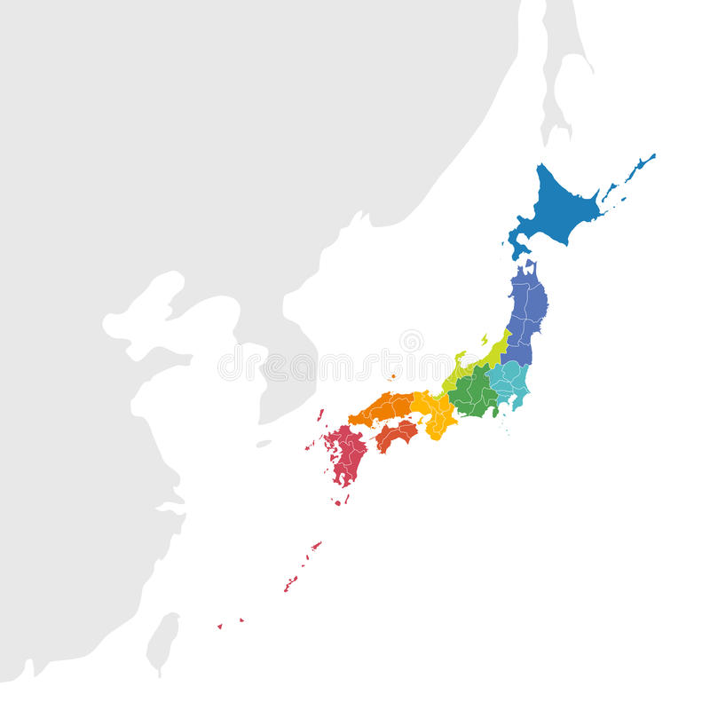 Vecteur de carte du Japon illustration libre de droits