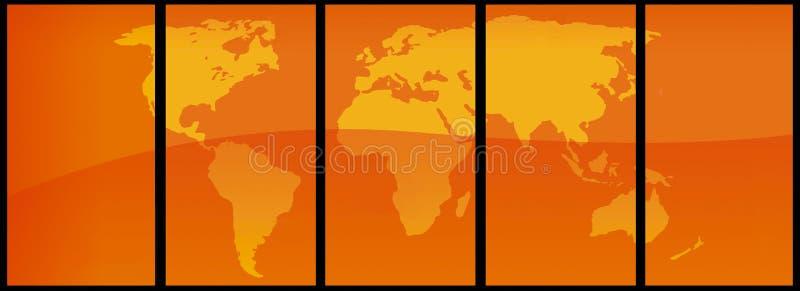 Vecteur de carte du monde illustration de vecteur