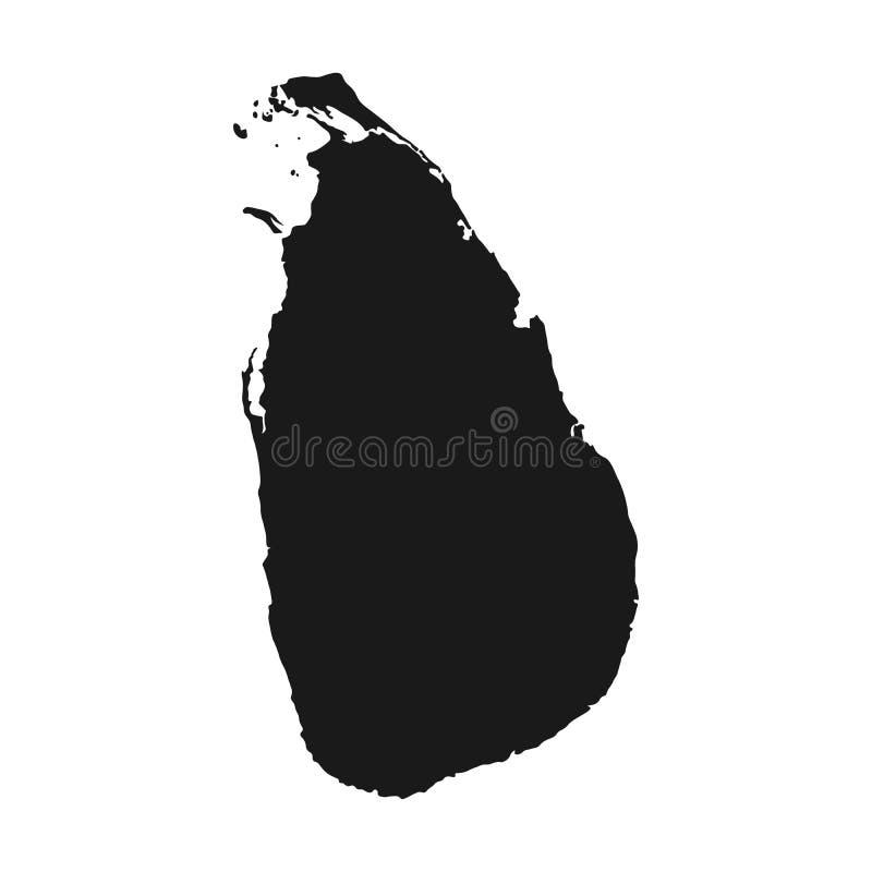 Vecteur de carte du Sri Lanka fond d'isolement par pays d'illustration illustration libre de droits