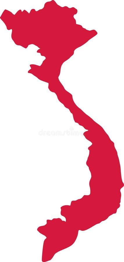 Vecteur de carte du Vietnam illustration libre de droits