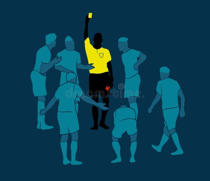 Vecteur de cartes rouges de jaune d'arbitre du football illustration de vecteur