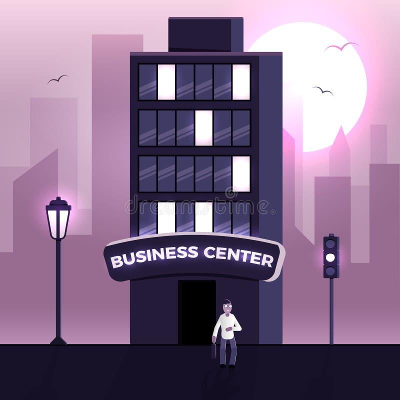 Vecteur de centre d'affaires illustration de vecteur
