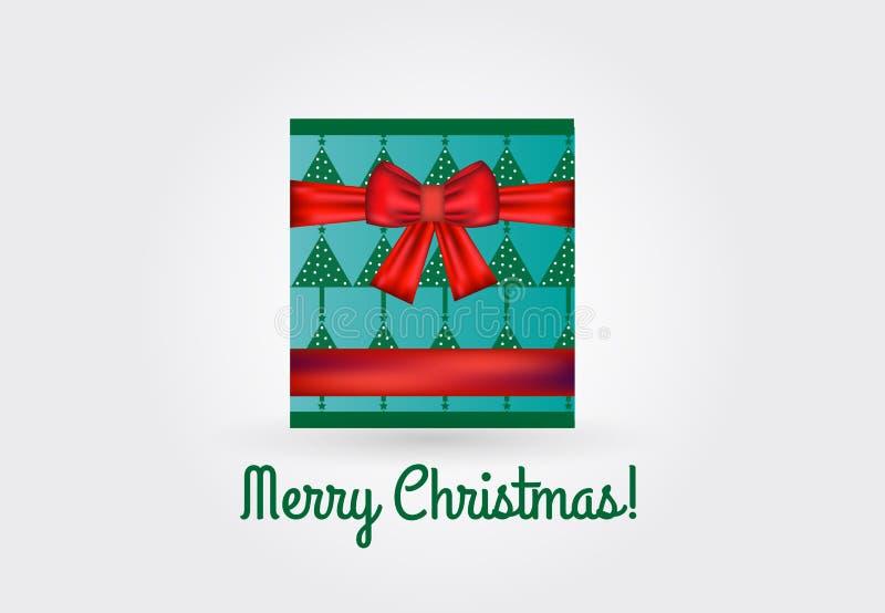 Vecteur de chèque-cadeau de boîte de Noël illustration de vecteur