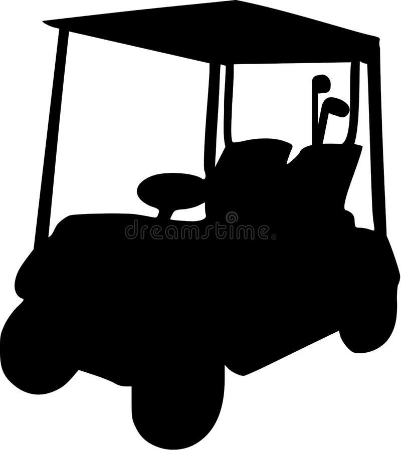 Vecteur de chariot de golf illustration libre de droits
