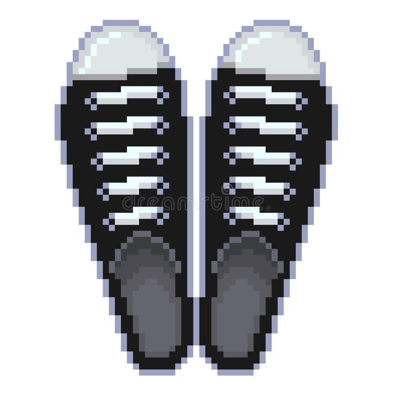 Vecteur de chaussures en caoutchouc de pixel illustration de vecteur