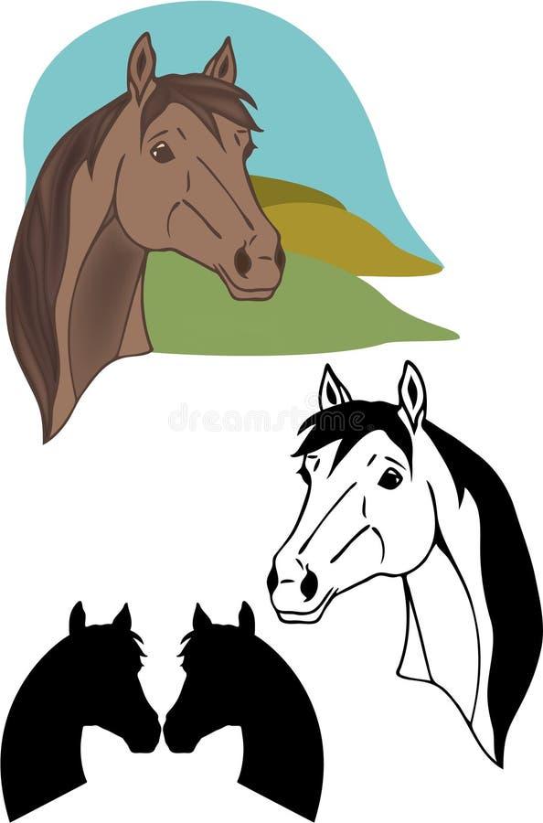Vecteur de cheval illustration libre de droits