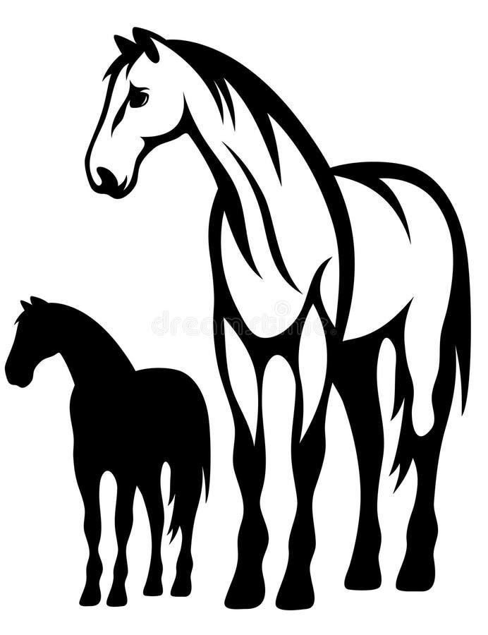Vecteur de cheval illustration stock