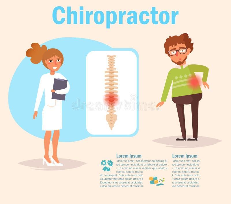 Vecteur de chiroprakteur cartoon illustration stock