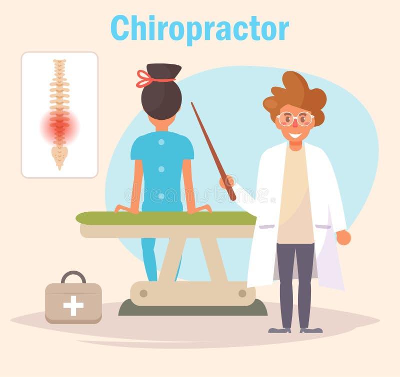 Vecteur de chiroprakteur cartoon illustration libre de droits
