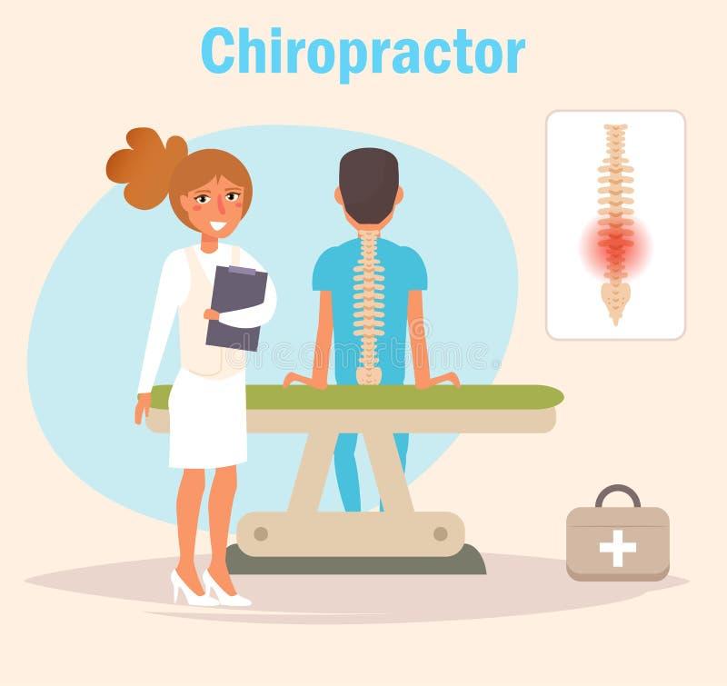 Vecteur de chiroprakteur cartoon illustration de vecteur