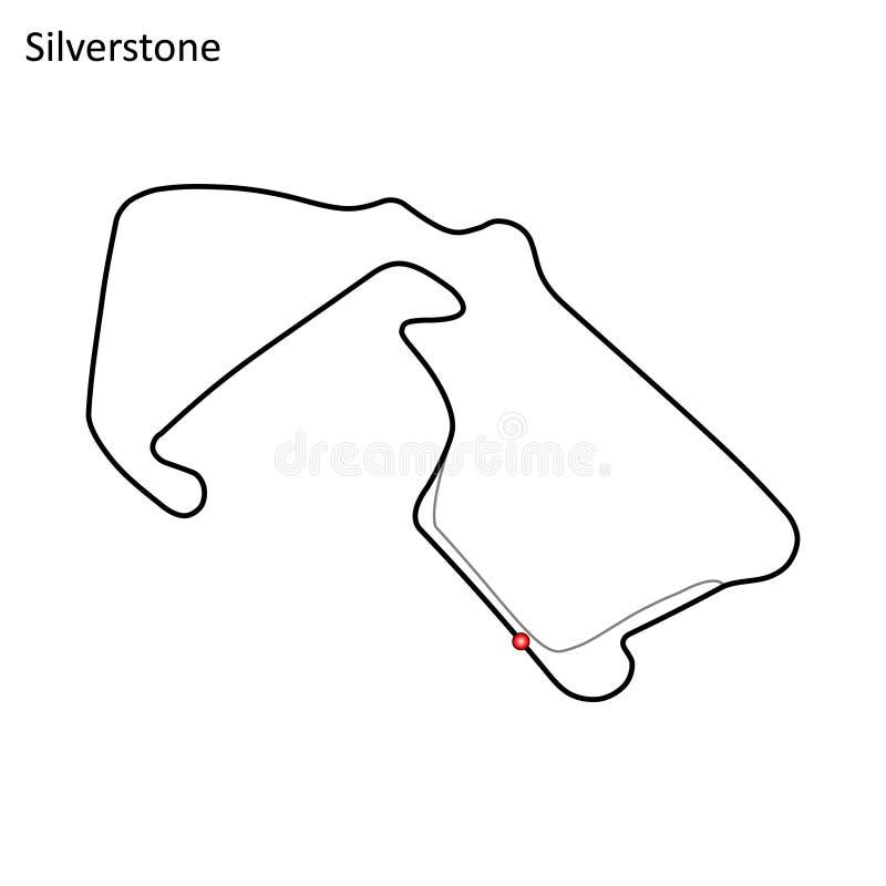 Vecteur de circuit de Silverstone illustration libre de droits