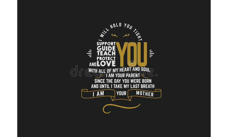 Vecteur de citation de typographie d'amour illustration stock