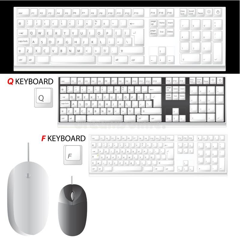 Vecteur de clavier et de souris
