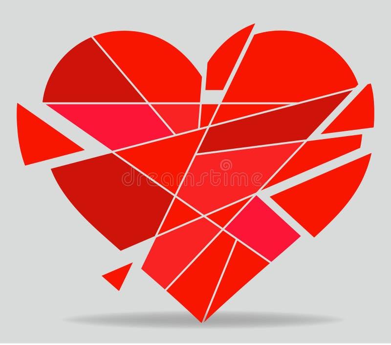 vecteur de coeur cassé illustration de vecteur